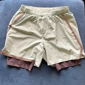 Men's Spandex-lined Lululemon shorts